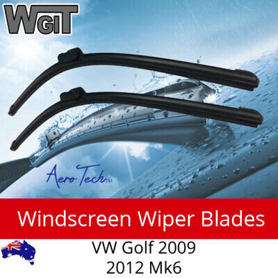 Windscreen Wiper Blades Suit VW Golf 2009 - 2012 Mk6 (Excl CABRIOLET) Aero Desig