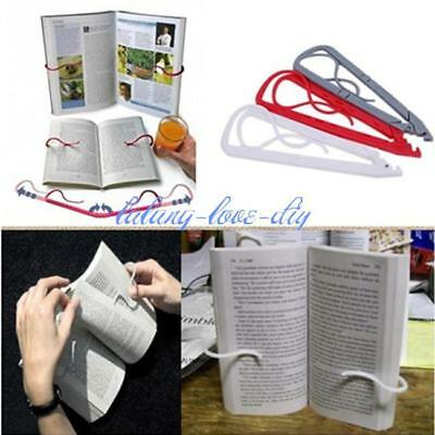 Portable Hands Free Travel Reading Holiday Book Holder Holds Pages Open Clip LD