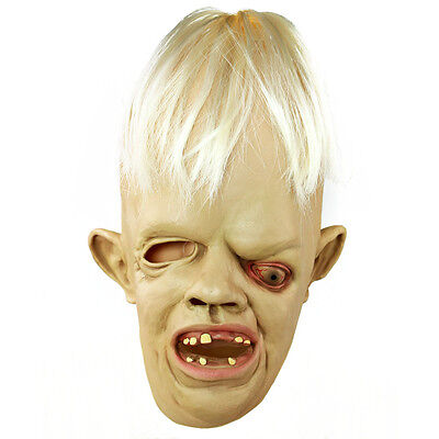 Sloth Latex Mask Deluxe Goonies Halloween Eye Masks Fancy Dress Costume 1980's