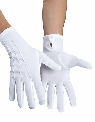 Short White Push Button Gloves Mickey Mouse Mime Santa Suit Fancy Dress Costume