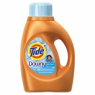 Tide Touch of Downy Liquid Laundry Detergent, Clean Breeze, 6 Bottles (PGC87458)