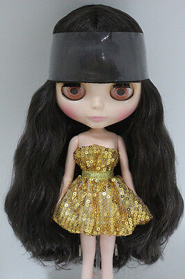 """Takara 12"""" Neo Blythe Black Hair Nude Doll from Factory TBY182"""