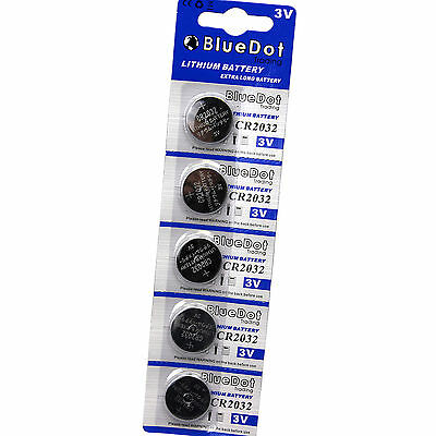 5 x CR2032 DL2032 ECR2032 5004LC 3 Volt Button Cell Battery USA US FREE SHIPPING