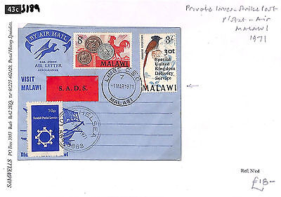 S189 1971 Malawi/Private Issues/Strike Post/Postal Stationery Air