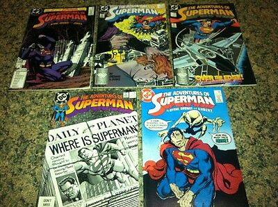 Lot of 5 dc the adventures of superman