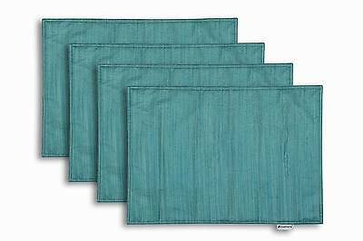 """4Pcs Kitchen Dining Bar Placemats Teal Tablemat Reversible Traycloth Home13""""X18"""""""