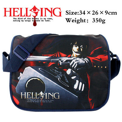 Anime HELLSING polyester shoulder bag with colorful printing of Alucard