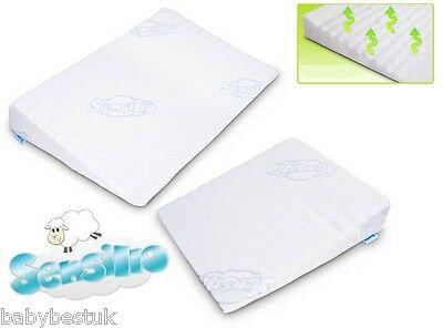 Baby Safety Foam Pillow Cot REFLUX WEDGE PILLOW +  Cover 59x37cm Sensillo