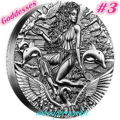 Australia 2015 Goddesses Of Olympus Aphrodite 2oz Silver High Relief Coin Perth!