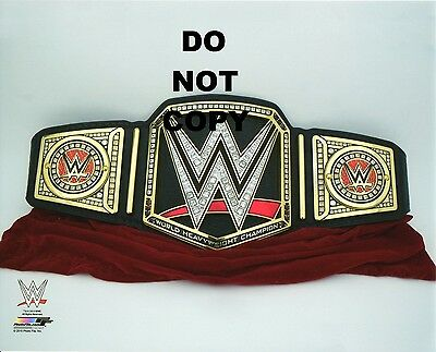 "WWE PHOTO OF CHAMPIONSHIP WRESTLING BELT 8x10"" OFFICIAL PROMO"