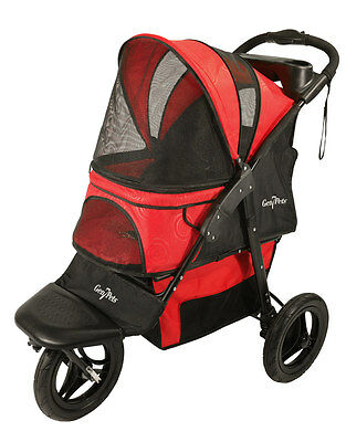 Gen7Pets G7 Pathfinder Red  Jogger Stroller for pets up to 75 lbs G2360TB
