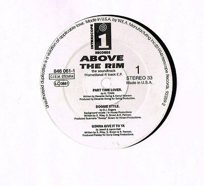 "ABOVE THE RIM Soundrack 12"" 6Track EP Promo SNOOP DOGG Interscope US 846 061 @VG"