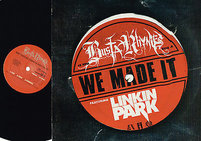 BUSTA RHYMES Linkin Park WE MADE IT Promo VINYL Aftermath/Interscope EU BRHYMES4
