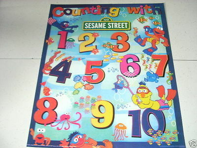 SEASAME STREET Counting with Numbers 16x20 Poster
