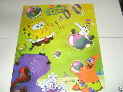 SPONGEBOB SQUAREPANTS Blowing Bubbles 16x20 Poster