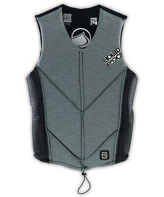 2016 Liquid Force WATSON Wakeboard Watersports Impact Vest, XL, grey. 48874