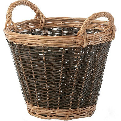 Stow Green Wicker Heavy-Duty Log Basket Small