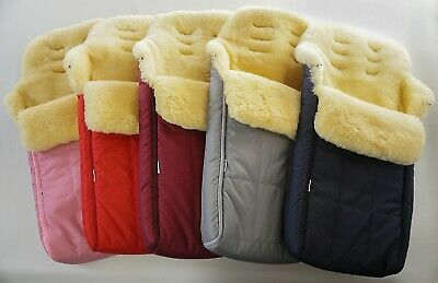 Genuine medical sheepskin footmuff -  super soft wool -  premium quality