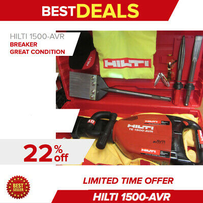 Hilti Te 1500-Avr Breaker,excellent Condition, Hilti Chisels & Scraper,fast Ship