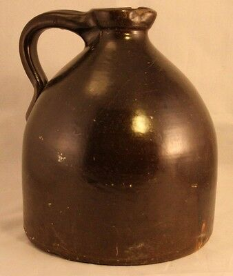 Antique Primitive Stoneware Pitcher Hand Made Very Old Crock Early Piece-37T!