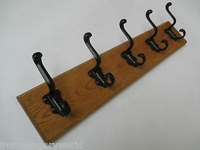 9 sizes SOLID ENGLISH OAK WOODEN HAT & AND COAT HOOKS HANGER PEGS RAIL RACK 790
