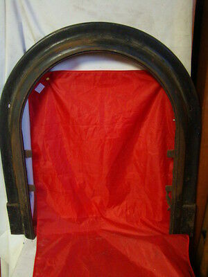 Antique Late 1800's Cast Iron Arched Fireplace Insert Cover Frame