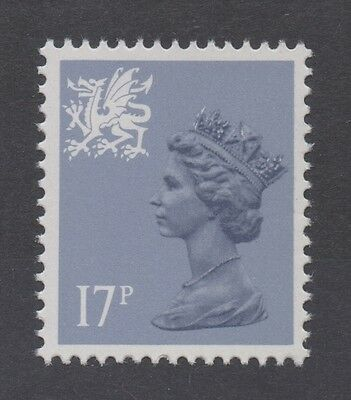 Wales. W44ea. 17p grey-blue. Type II variety. Superb unmounted mint. FREEPOST!
