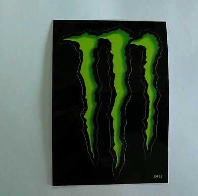 """(2) Monster Energy Decal Sticker Green Claw Mark 4""""x3"""""""