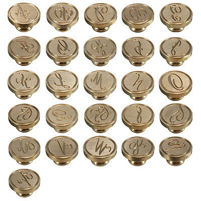 Classic 26 Letters Alphabet A-Z Sealing Wax Seal Brass Copper Head Stamp Handle