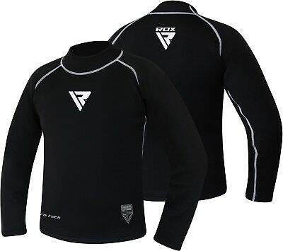 RDX Long Sleeves Rash Guard Sweatshirt Sauna Suit Weight Loss Running Tops MMA B