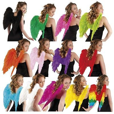 Ladies Womens Feather 50cm Pixie Wings Fancy Dress Costume Halloween Hen Night