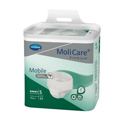 MoliCare Mobile Light Pull Up - Small (60-90cm/24-35in) - 1300ml - Pack of 14