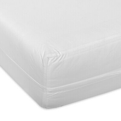 Smooth Polyester Waterproof Mattress Protector - Double - Zipper Encased