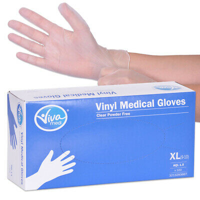 Viva Medi Powder Free Vinyl AQL 1.5 Medical Gloves - X Large - Pack of 100