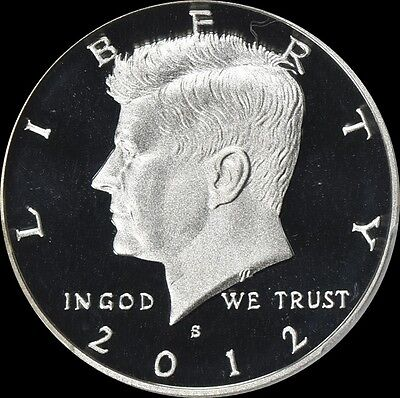 2012 S 90% Silver Kennedy Half Dollar Deep Cameo Gem Proof