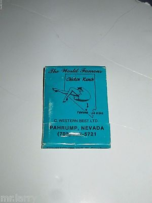 The Chicken Ranch Brothel Pahrump Nevada Matches Match Book Full Unused