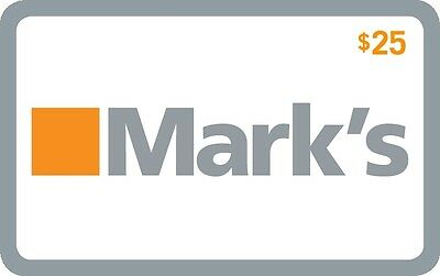 Mark's Gift Card- $25 Mail Delivery