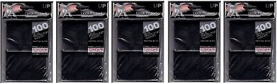 Lot of 500 Black Ultra Pro Deck Protector Sleeves Standard Magic Size Brand New