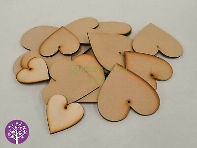 Wooden mdf heart shaped craft blanks