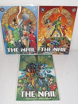 JUSTICE LEAGUE: THE NAIL #1-3 - Complete Series - ALAN DAVIS Mark Farmer - DC
