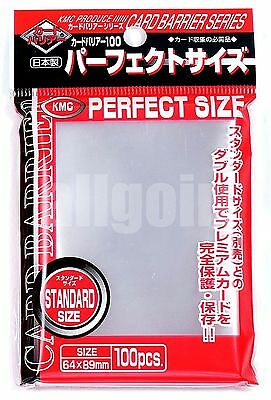 100 BUSTINE PERFECT SIZE KMC SLEEVES Magic Pokemon Force Of Will MTG FOW NEW!!