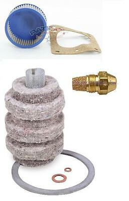 """Oil Burner Tune Up Kit 0.65 Gallon 60° Hollow Nozzle, Filter And """"A"""" Pump Screen"""