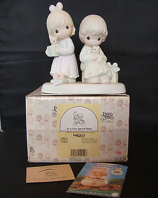 TO A VERY SPECIAL SISTER 528633 Precious Moments 1993 TRUMPET RETIRED 2002 MIB