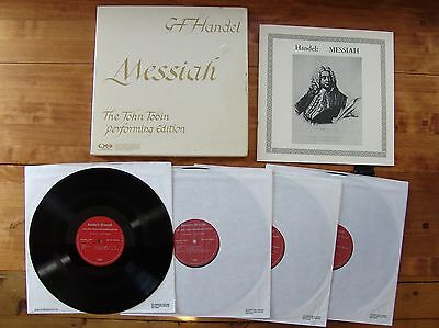"BOX SET 4 LPs ""Handel's Messiah: The John Tobin Performing Edition"" Quadrophonic"