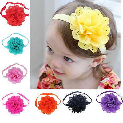8Pcs Baby Girls Headbands Kids Lovely Hairband Flower Hair Accessories Head Band