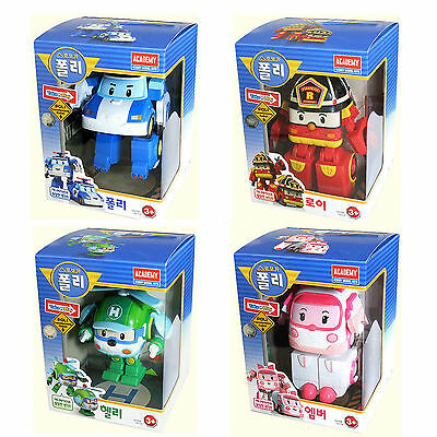 Robocar Transformer Robot POLI ROY HELLI AMBER Korean TV Animation Car Toy
