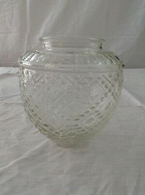 Vintage Glass Globe For Light Fixture