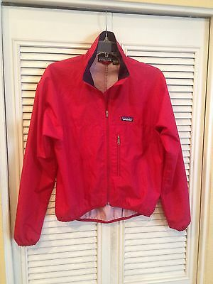 Vintage Patagonia Red Full Zip Windbreaker Size Small Jacket Coat Pullover