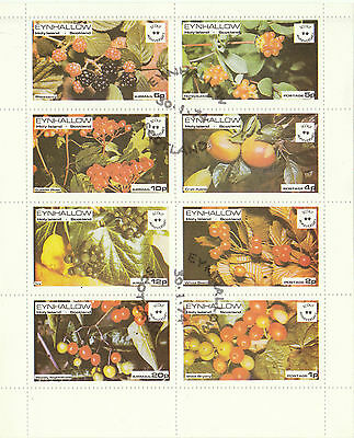 Fruit / Scouts - Holy Island, Scotland - Minisheet Of 8 Different  Stamps - 1974