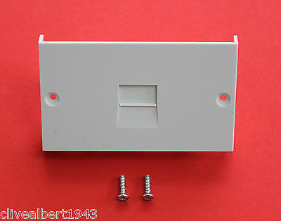 1 x BT Openreach NTE5 Socket Replacement Lower Isolating Front Panel/Screws NEW
